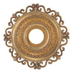 Minka-Aire Tuscan Patina 22In. Ceiling Medallion From The Napoli Collection