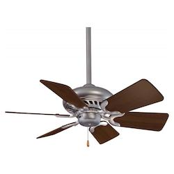 Minka-Aire Brushed Steel 6 Blade 32In. Ceiling Fan Blades Included