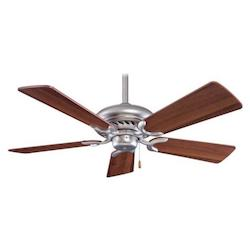 Minka-Aire Brushed Steel Walnut 5 Blade 44In. Ceiling Fan Blades Included