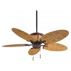 Minka-Aire One Light Vintage Rust And Bamboo Outdoor Fan