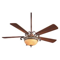 Minka-Aire Two Light Florence Patina Ceiling Fan