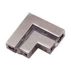 Minka George Kovacs Brushed Nickel L-Corner Connector Rail Connector from the GK LIGHTRAIL® Series