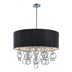 Minka George Kovacs Chrome 8 Light Drum Pendant from the Ringlets Collection