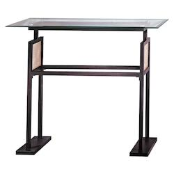 Minka George Kovacs Dorian Bronze Console Table from the Ripple Collection