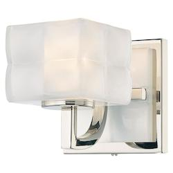 Minka George Kovacs Polished Nickel 1 Light Wall Sconce from the Squared Collection