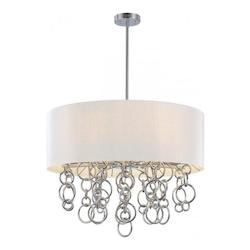 Minka George Kovacs Chrome 6 Light Drum Pendant from the Ringlets Collection