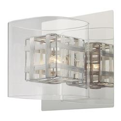 Minka George Kovacs Chrome 1 Light Wall Sconce from the Jewel Box Collection