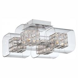 Minka George Kovacs Chrome 4 Light Semi-Flush Ceiling Fixture from the Jewel Box Collection