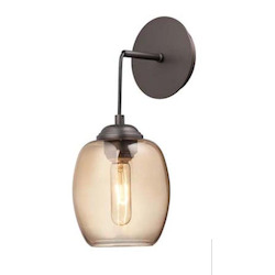 Minka George Kovacs Copper Bronze Patina 1 Light Mini Pendant from the Bubble Collection