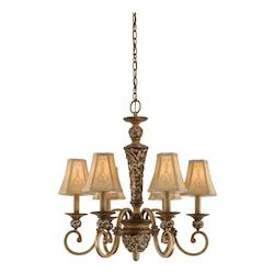 Minka-Lavery Florence Patina 6 Light 1 Tier Chandelier From The Salon Grand Collection