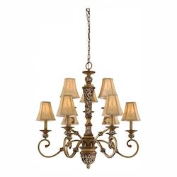 Minka-Lavery Florence Patina 9 Light 1 Tier Chandelier From The Salon Grand Collection