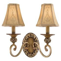 Minka-Lavery Florence Patina 2 Light Candle-Style Wall Sconce From The Salon Grand Collection