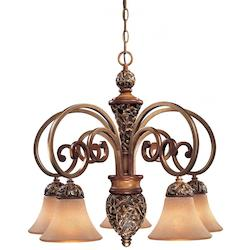 Minka-Lavery Florence Patina 5 Light 1 Tier Chandelier From The Salon Grand Collection