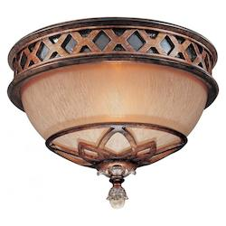 Minka-Lavery 1 Light Aston Court Bronze Crystal Flush Mount