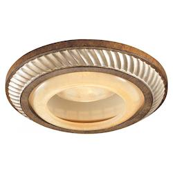 Minka-Lavery Aston Court Bronze Single Light Flush Mount Ceiling Fixture