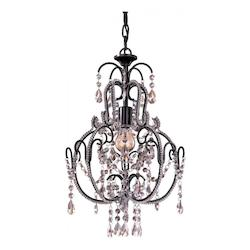 Minka-Lavery Taylor Bronze 1 Light 20In. Height 1 Tier Crystal Chandelier