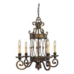 Minka-Lavery Deep Flax Bronze 4 Light 1 Tier Chandelier From The Atterbury Collection
