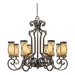 Minka-Lavery Deep Flax Bronze 8 Light 1 Tier Chandelier From The Atterbury Collection