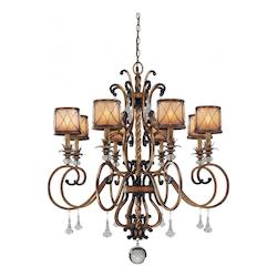 Minka-Lavery Aston Court Bronze Aston Court 8 Light Single Tier Crystal Chandelier