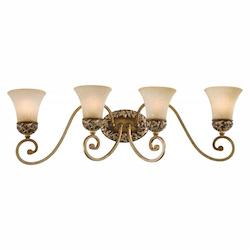 Minka-Lavery Florence Patina 4 Light Bathroom Vanity Light From The Salon Grand Collection