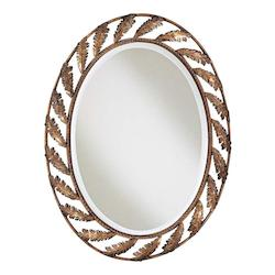 Minka-Lavery Padova Victorian Style Oval Mirror, Finished In Padova