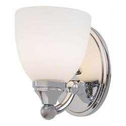 Minka-Lavery Chrome 1 Light Wall Sconce From The Taylor Collection
