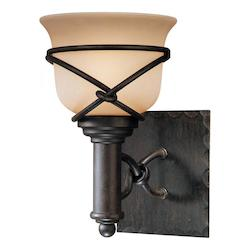 Minka-Lavery Aspen Bronze 1 Light Bathroom Sconce From The Aspen Ii Collection
