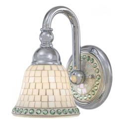 Minka-Lavery Chrome 1 Light Wall Sconce From The Piastrella Collection
