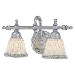 Minka-Lavery Chrome 2 Light Bathroom Vanity Light From The Piastrella Collection
