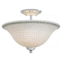 Minka-Lavery Chrome 3 Light Semi-Flush Ceiling Fixture From The Piastrella Collection