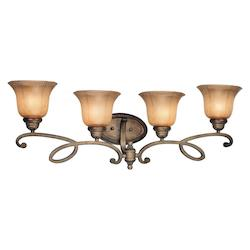 Minka-Lavery Patina Iron 4 Light Bathroom Vanity Light From The La Cecilia Collection