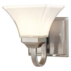 Minka-Lavery Brushed Nickel 1 Light Bathroom Sconce From The Agilis Collection