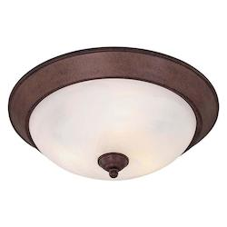 Minka-Lavery Antique Bronze 3 Light 15.5In. Width Flush Mount Ceiling Fixture