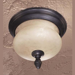 Minka-Lavery 2 Light Outdoor Flush Mount With Heritage Finish