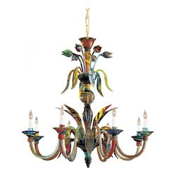 Minka Metropolitan Minka 8 Light Multicolor Up Chandelier In Murano Glass