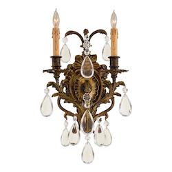 Minka Metropolitan Antique Bronze Patina 2 Light Candle-Style Wall Sconce From The Foyer Collection