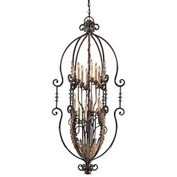 Minka Metropolitan Metropolitan 12 Light Chandelier In Armandari Finish With Acanthus Leaf Accents
