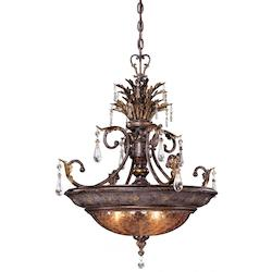 Minka Metropolitan Sanguesa Patina 3 Light Bowl Shaped Pendant From The Sanguesa Collection