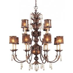 Minka Metropolitan Minka 14 Light Chandelier In Sanguesa Patina Finish With Vidrio Artistico Glass