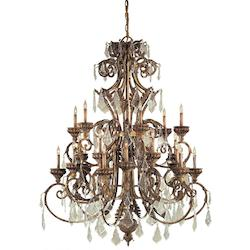 Minka Metropolitan Minka Metropolitan 24 Light Chandelier In Padova Finish And Clear Crystals