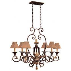 Minka Metropolitan Golden Bronze Optional Shade Up Chandelier