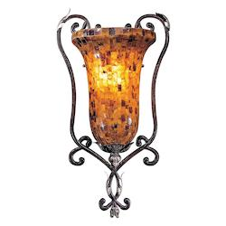 Minka Metropolitan Cattera Bronze 1 Light Lantern Wall Sconce From The Salamanca Collection