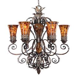Minka Metropolitan Cattera Bronze 6 Light 1 Tier Chandelier From The Salamanca Collection