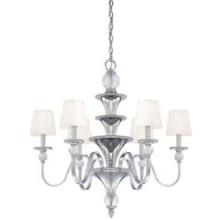 Minka Metropolitan Polished Nickel 6 Light 1 Tier Candle Style Chandelier From The Aise Collection