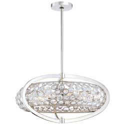 Minka Metropolitan Polished Nickel 8 Light Drum Pendant From The Magique Collection