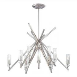 Minka Metropolitan Polished Nickel 12 Light 1 Tier Chandelier From The Fusano Collection