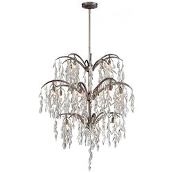 Minka Metropolitan Silver Mist 16 Light 3 Tier Crystal Chandelier From The Bella Flora Collection