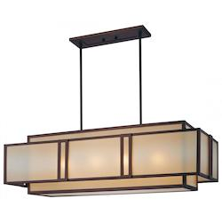 Minka Metropolitan Cimarron Bronze 4 Light 1 Tier Linear Chandelier From The Underscore Collection