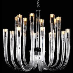 Minka Metropolitan Chrome Clear Glass 12 Light 1 Tier Chandelier From The Metropolitan Collection