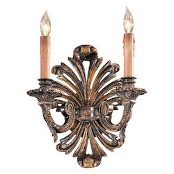 Minka Metropolitan Minka Metropolitan 2 Light Wall Sconce In Oxide French Gold Finish